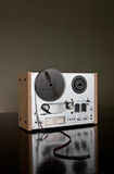 Vintage reel-to-reel tape recorder deck Royalty Free Stock Image