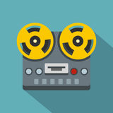 Vintage reel to reel tape recorder deck icon Royalty Free Stock Photo