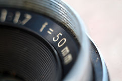 Vintage Reflex Camera Lens Royalty Free Stock Images