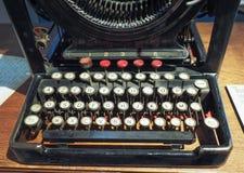 Vintage Remington typewriter in Turin. TURIN, ITALY - CIRCA MARCH 2017: Vintage Remington typewriter made in New York in 1907 Royalty Free Stock Photos