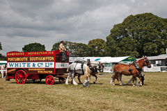 Vintage removals van and horse team Stock Image