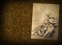 Vintage renaissance background. Vintage background with renaissance style graphic Stock Photos