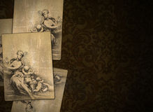 Vintage renaissance background with sheets graphic Stock Image