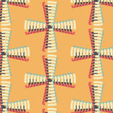 Vintage repeating shapes vector 3d crosses pattern Stock Images