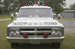 Vintage Rescue Squad Car Royalty Free Stock Images