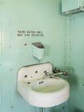 Vintage rest room. Vintage public restroom, historic rail car royalty free stock photo