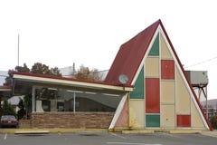 Vintage Restaurant. Geometrical design vintage drive-in restraurant Royalty Free Stock Image