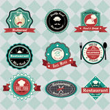 Vintage restaurant labels Royalty Free Stock Images