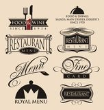 Vintage restaurant logos collection Royalty Free Stock Photo