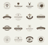 Vintage Restaurant Logos Design Templates Set. Stock Photos