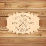 Vintage restaurant menu board template Stock Images