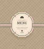 Vintage Restaurant Menu Royalty Free Stock Photos