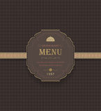 Vintage Restaurant Menu Royalty Free Stock Images