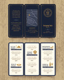 Vintage Restaurant menu design pamphlet template Royalty Free Stock Photography