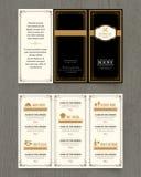 Vintage Restaurant menu design pamphlet template Royalty Free Stock Image