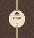 Vintage Restaurant Menu Stock Images