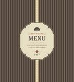 Vintage Restaurant Menu Stock Photography