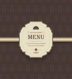 Vintage Restaurant Menu Royalty Free Stock Photos