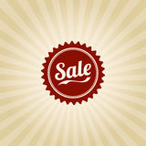 Vintage Retail Design. A vintage poster design with 'Sale' badge Royalty Free Stock Photography