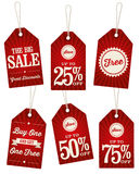 Vintage Retail Labels. A set of retail labels for a sale Stock Image