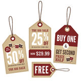 Vintage Retail Labels Royalty Free Stock Photos