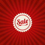 Vintage Retail Poster. A vintage background with SALE stamp Royalty Free Stock Images