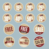 Vintage Retail Stickers. A set of vintage retail stickers with a winter theme Stock Image