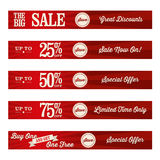 Vintage Retail Website Banners. A set of retail website banners for a sale Royalty Free Stock Photography