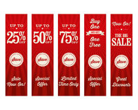 Vintage Retail Website Banners. A set of retail website banners for a sale Royalty Free Stock Images