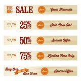 Vintage Retail Website Banners. A set of retail website banners for a sale Stock Image