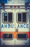 Vintage Retro Ambulance. Retro Filtered Photo Of A Grungy Old Ambulance Royalty Free Stock Photo