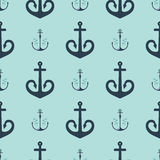 Vintage retro anchor badge vector seamless pattern sea ocean graphic nautical anchorage symbol illustration. Vintage retro anchor seamless pattern. Vector sign Royalty Free Stock Images