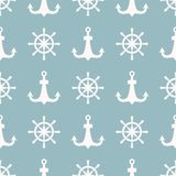 Vintage retro anchor badge vector seamless pattern sea ocean graphic nautical anchorage symbol illustration. Vintage retro anchor seamless pattern. Vector sign Royalty Free Stock Image
