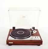 Vintage retro análogo estereofônico do jogador de registro do vinil da plataforma giratória Fotografia de Stock Royalty Free