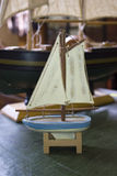 Vintage Retro Antique Toy Boats of Different Sizes Stock Photos
