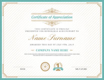 Vintage retro art deco frame certificate background template