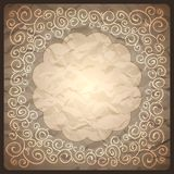 Vintage retro background with ornamental frame Royalty Free Stock Images