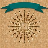 Vintage  retro background with sun radial rays Royalty Free Stock Image