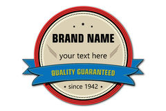 Vintage retro badge Royalty Free Stock Images