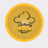 Vintage retro bakery badge. Vintage retro bakery logo badge royalty free illustration