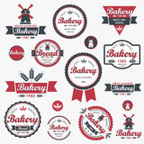 Vintage retro bakery badges and labels. vector illustration