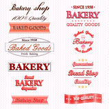 Vintage Retro Bakery Badges And Labels Royalty Free Stock Image