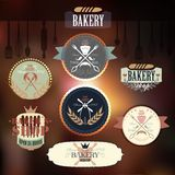 Vintage Retro Bakery Badges and Labels Stock Image