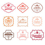 Vintage retro bakery labels Royalty Free Stock Images