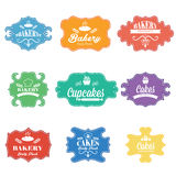Vintage retro bakery labels.Vector Stock Image