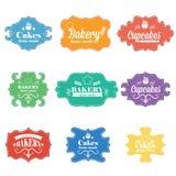 Vintage retro bakery labels.Vector Royalty Free Stock Photos