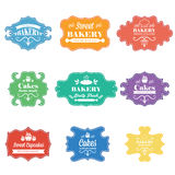 Vintage retro bakery labels.Vector Royalty Free Stock Images