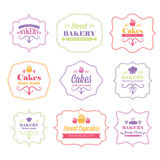 Vintage retro bakery logo labels Royalty Free Stock Photography