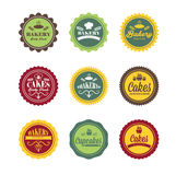 Vintage retro bakery logo labels Royalty Free Stock Photo