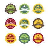 Vintage retro bakery logo labels Royalty Free Stock Photos